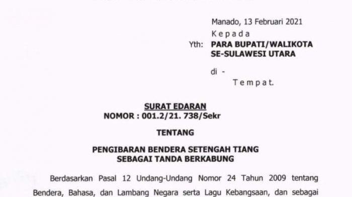 Edaran Plh Gubernur Sulut, Edwin Silangen