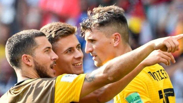 VIDEO - Hazard Bersaudara Bawa Kemenangan Untuk Belgia, Umpan Sang Kakak Berbuah Gol
