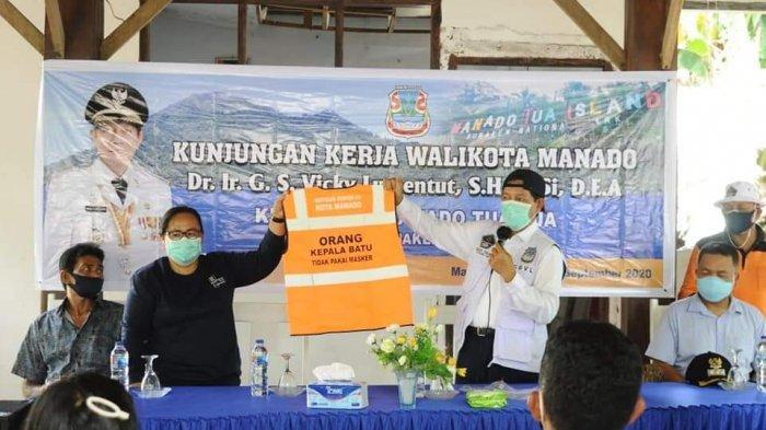 Edukasi dan Sosialisasi Penanganan Covid-19 Wali Kota Manado di 11 Kecamatan Tuntas