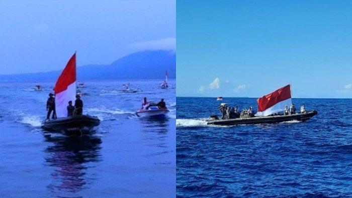 Pasukan TNI Lanal Melonguane Gelar Ekspedisi Merah Putih, Keliling Semua Pulau Kecil di Talaud