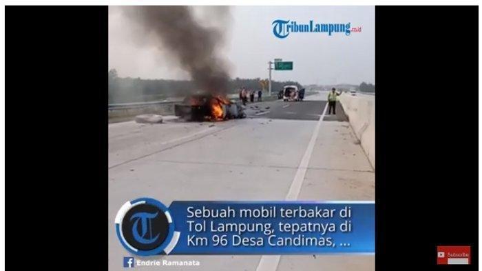 Kronologi 2 Lakalantas di Lampung, 2 Bocah Selamat dan 4 Lainnya Tewas dari Mobil yang Terbakar