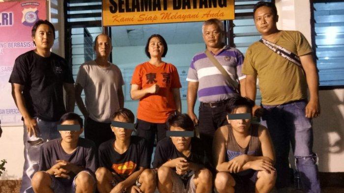 4 Terduga Tersangka Pembunuhan di Desa Sea Ditangkap Tim Resmob Polsek Pineleng