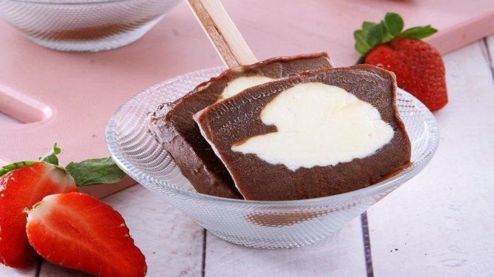 Resep Es Loli Cokelat Isi Krim Keju, Yuk Coba!
