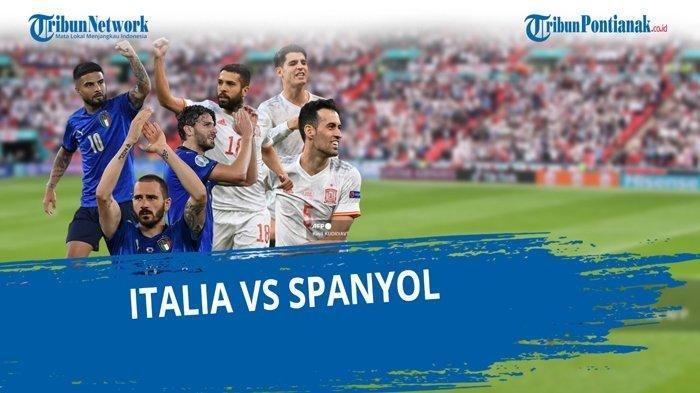 HASIL Italia vs Spanyol Euro 2020, Gli Azzurri Menang Karena Beruntung, Diselamatkan Alvaro Morata