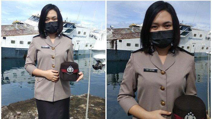 Polwan Cantik Eva Lintong dari Manado Harapkan Polri Selalu Kompak Jalankan Tugas
