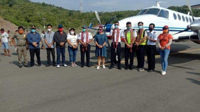 Sejarah Baru! Hari Ini Pesawat Pertama Mendarat di Bandar Udara Balirangen Sitaro