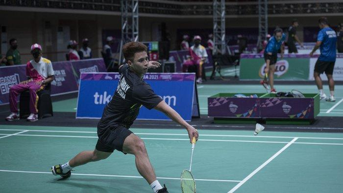 Kandas di Semifinal, Pebulutangkis Sulut Ikhsan Rumbay Raih Perunggu PON XX Papua 2021