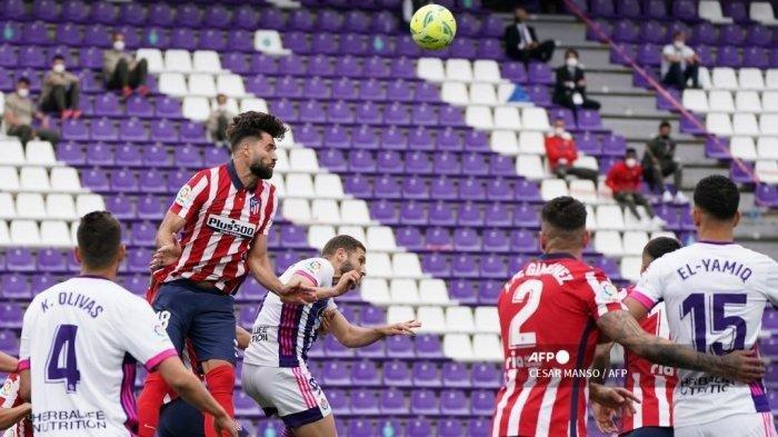 Hasil Liga Spanyol Real Valladolid vs Atletico Madrid, Menang Comeback 1-2, Los Rojiblancos Juara