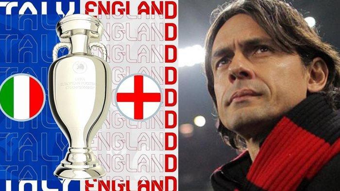 Italia VS Inggris 1-0, Prediksi Filippo Inzaghi Mantan Striker Juventus dan AC Milan
