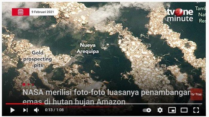 Badan Antariksa AS Ungkap Fakta di Balik Misteri Sungai Emas di Amazon