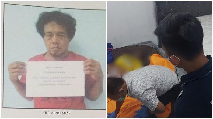 Foto dari Pangkalan PSDKP Bitung foto saat korban masih hidup dan foto saat Tim inafis tengah melakukan pemeriksaan di tempat kejadian perkara.