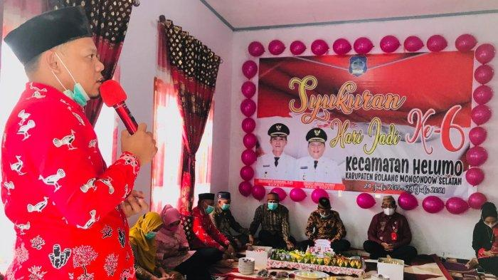 Kecamatan Helumo Bolsel Genap 6 Tahun, Nodly Apresiasi Sinergi antar Masyarakat dan Pemerintah