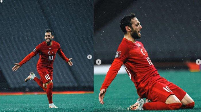 Foto Hakan Calhanoglu - Pemain Turki yang bermain di AC Milan.