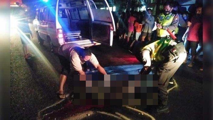 Kecelakaan Maut Tadi Malam Pukul 21.15, Pemotor Tewas di Tempat, Motor Korban Ditabrak Mobil Pajero