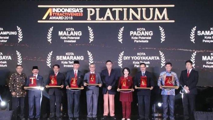 Manado Raih Penghargaan Platinum Indonesia's Attractiveness Award 2018