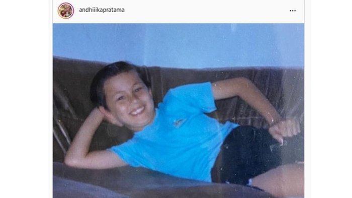 Andhika Pratama saat beranjak remaja; foto diunggah pada Oktober 2021.