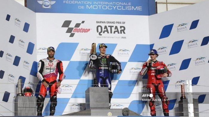 Hasil MotoGP Qatar 2021, Maverick Vinales Juara, Ini Posisi Valentino Rossi & Alex Marquez