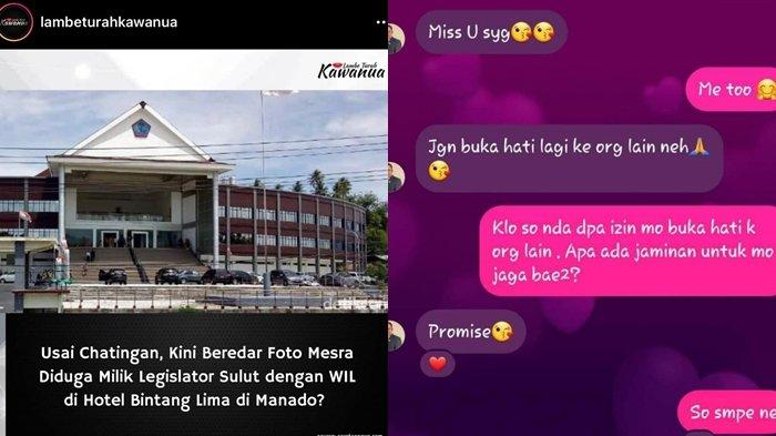 Viral Foto Mesra Mirip Oknum Anggota DPRD Peluk Wanita, Diduga WIL, Apa Langkah BK DPRD Sulut?