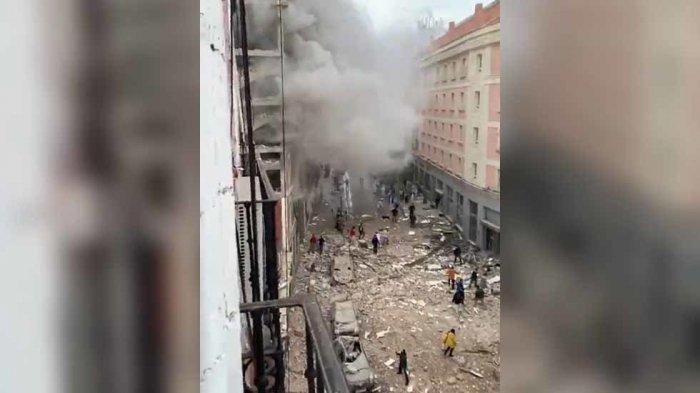 INFO Terkini Kejadian di Dunia, Ada Ledakan Dahsyat di Madrid Spanyol, Ini Dugaan Penyebabnya