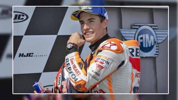 FOTO Marc Marquez menjadi pemilik waktu lap tercepat pada sesi tes 1 MotoGP Spanyol 2020 di Sirkuit Jerez, Rabu (15/7/2020)