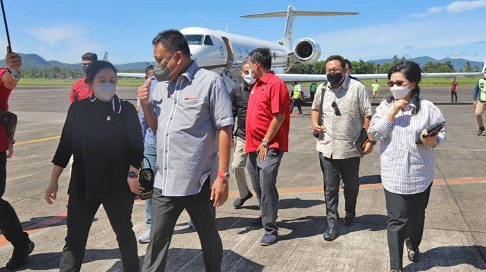 Puan Maharani Tiba di Manado, Disambut Olly Dondokambey dan Steven Kandouw