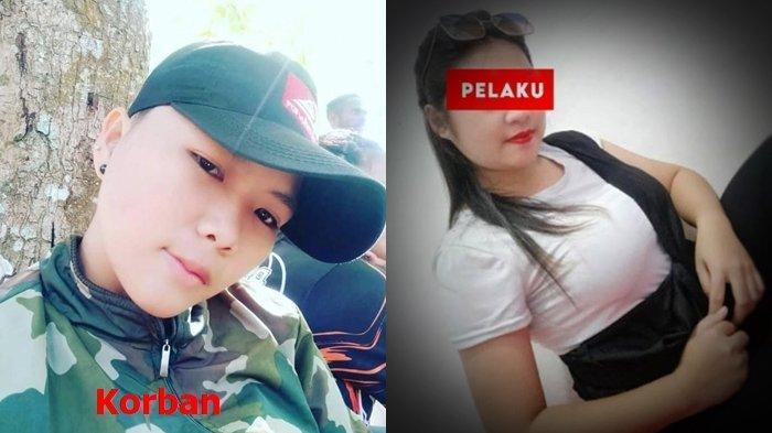 Foto semasa hidup V Rundengan korban pembunuhan di Manado dan MW kekasihnya yang menikam korban