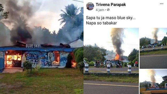 BREAKING NEWS - Diskotik Blue Sky Tumpaan Kabupaten Minsel Terbakar