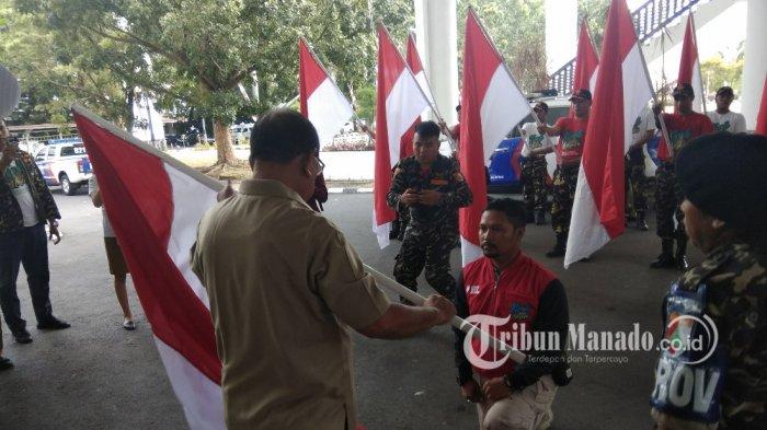 Pasukan 17 Kirab Kebangsaan Ansor Tiba di Kantor Gubernur
