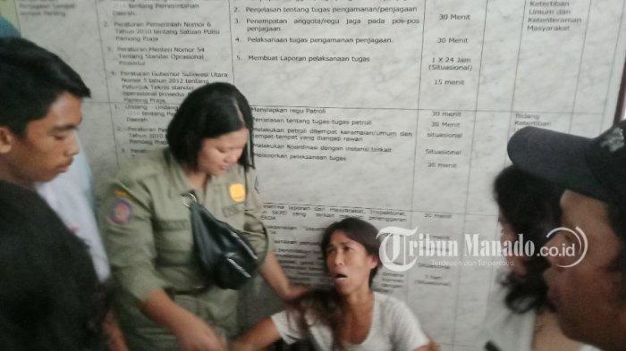 Satpol PP Sulut saat bertugas Rabu (07/11/2018)