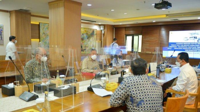 Bupati Minahasa Selatan Franky Wongkar Usul Pembukaan Jalur Laut Amurang - Balikpapan