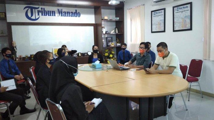 Siswa Aviasi Nusantara Belajar Jurnalistik di Tribun Manado