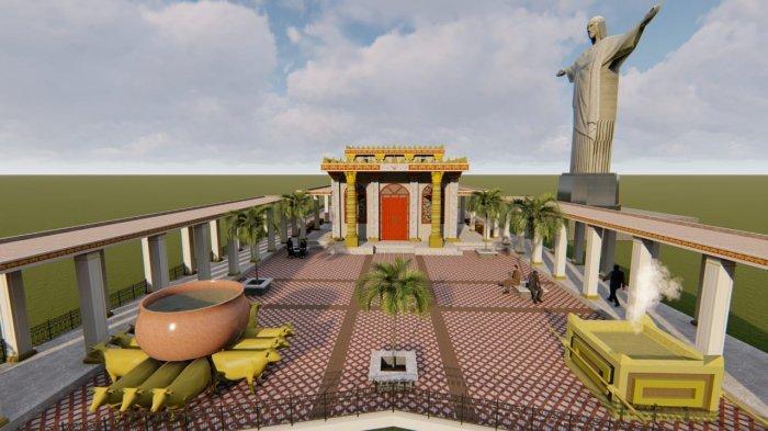 Gambar rencana pembangunan Replika Biat Suci