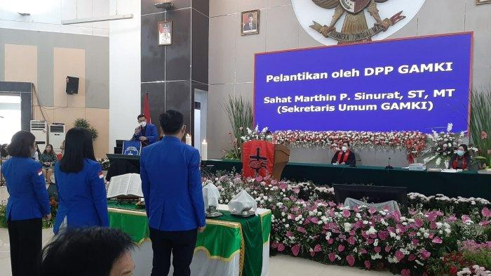 GAMKI Sulut Dilantik di GMIM Sion Teling Sentrum Manado, Yowanda Jabat Ketua DPD