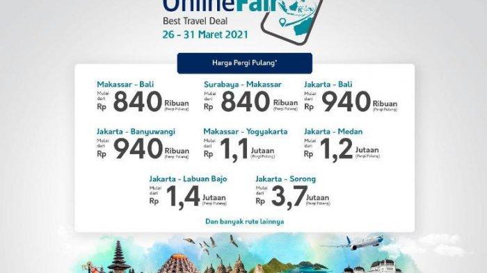 Garuda Indonesia Online Travel Fair Mulai Hari ini, Buruan, Diskon Tiket hingga 85 Persen