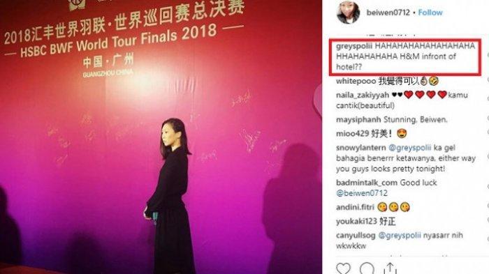 Greysia Polii Komentari Kisah Unik Gaun Zhang Beiwen pada Gala Dinner BWF World Tour Finals 2018