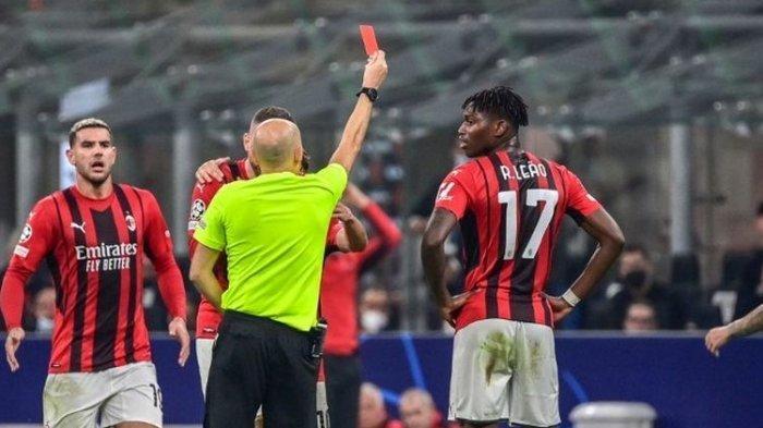 HASIL AC Milan vs Atletico Madrid, Terkena Kartu Merah, Rossoneri Kena Comeback Gol Penalti Suarez
