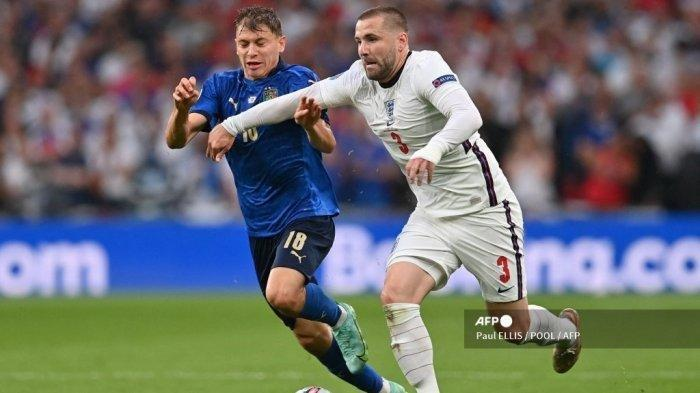 Hasil Sementara Italia vs Inggris, Luke Shaw Bawa The Three Lions Ungguli Gli Azzurri