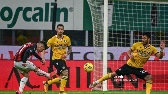 Hasil Liga Italia AC Milan vs Udinese, Rossoneri Hampir Kalah, Diselamatkan Penalti Franck Kessie