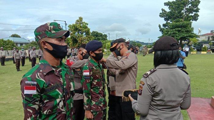 Gelar pasukan dilaksanakan Polres Kepulauan Talaud bertempat di halaman Mapolres kepulauan Talaud, Provinsi Sulawesi Utara.