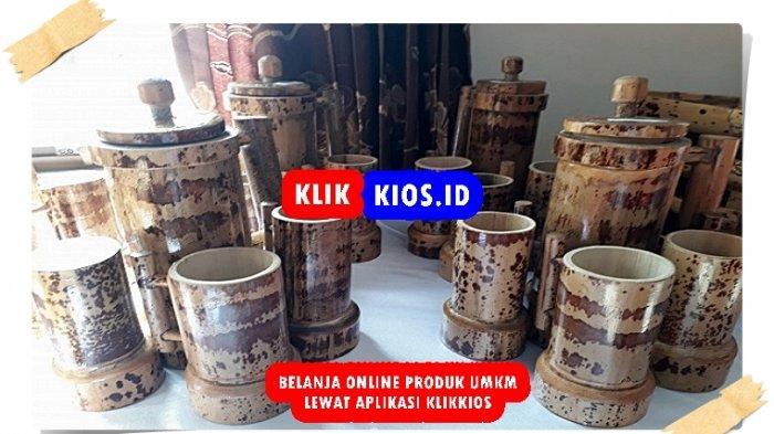 Belanja Yuk! Ada Satu Set Gelas Bambu di Kios UMKM Sulut