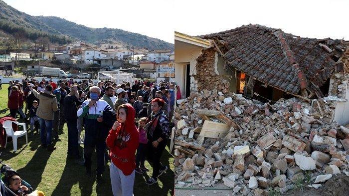 Gempa Dahsyat 6,2 SR, Warga Ketakutan Berhamburan Keluar Rumah dan Ambruk, Ini Lokasi Gempa