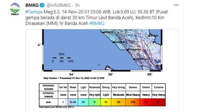 Gempa Bumi Tadi Dini Hari Banda Aceh Diguncang Dengan Magnitudo 5 3 Warga Berhamburan Keluar Rumah Tribun Manado