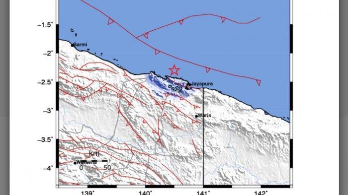 GEMPA Bumi Tadi Dini Hari Pukul 01.28 WIB, Data BMKG Terjadi di Laut Kota Jayapura