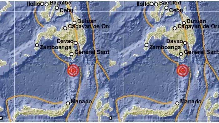Gempa Bumi di Kepulauan <a href='https://manado.tribunnews.com/tag/sangihe' title='Sangihe'>Sangihe</a>, Sulut, <a href='https://manado.tribunnews.com/tag/selasa-25-mei-2021' title='Selasa25Mei2021'>Selasa25Mei2021</a> dini hari.