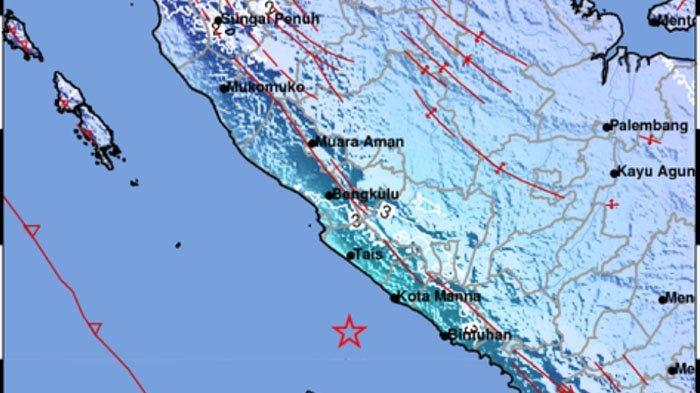 GEMPA Bumi di Laut Hari Ini, Info Terkini <a href='https://manado.tribunnews.com/tag/bmkg' title='BMKG'>BMKG</a> <a href='https://manado.tribunnews.com/tag/minggu-20-juni-2021' title='Minggu20Juni2021'>Minggu20Juni2021</a>, Ini Lokasi dan Kekuatannya