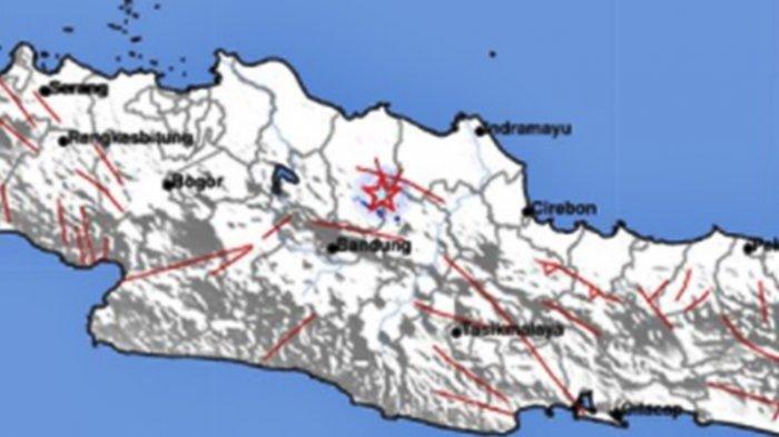 Gempa bumi di Subang, Jumat 23 April 2021 <a href='https://manado.tribunnews.com/tag/pagi' title='pagi'>pagi</a>.