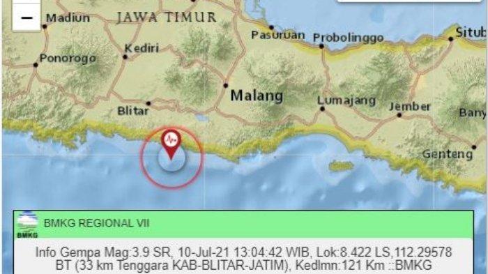 Gempa Terkini Siang Ini Sabtu 10 Juli 2021, Berikut Ini Info Titik Lokasi dan Magnitudonya