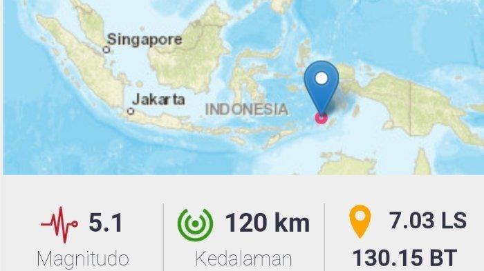 Gempa Terkini 5.1 SR Tadi Malam, Berikut Info BMKG Data Kekuatan Magnitudo dan Titik Koordinat