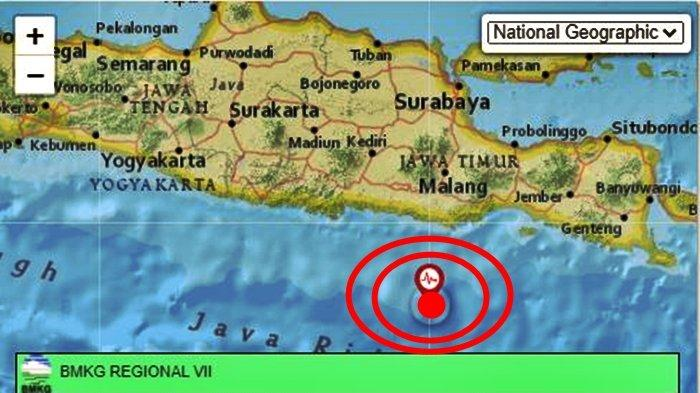 Gempa bumi kembali terjadi di wilayah Jawa Timur. Info BMKG data magnitudo dan pusat gempa.