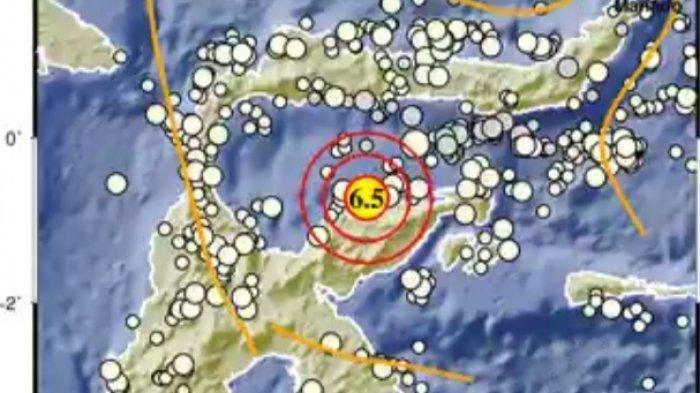 Gempa Magnitudo 6.5 Tadi Malam, BMKG: Titik Koordinat dan Lokasinya